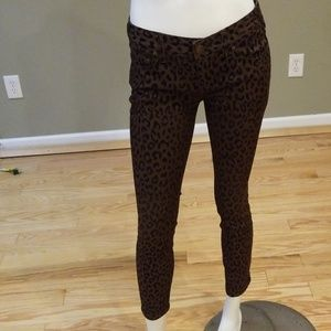 Free people animal print jeans